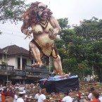 Balinese Silent Day approaches and so do the Ogoh Ogoh (monsters)