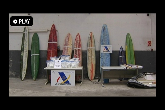 51c7d83861a63 Anti-drugs officers discovered between five and six kilos of highly-pure  cocaine hidden inside a total of nine apparently used surfboards.