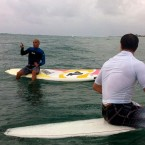Pro surfers give NFL Pro Bowlers a lesson on the waves