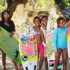 Shredding: Putri Ombak female surf club members share their surfing skills with other women and girls.