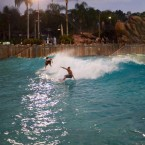 Surf industry teams take to wave pool to raise cash