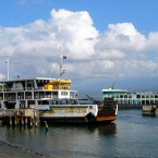 Ferry boats at Gilimanuk Port, Negara, West Bali.