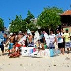 Lembongan crew at the contest. Photo © Wayan Lena/Lembongan Surf Team