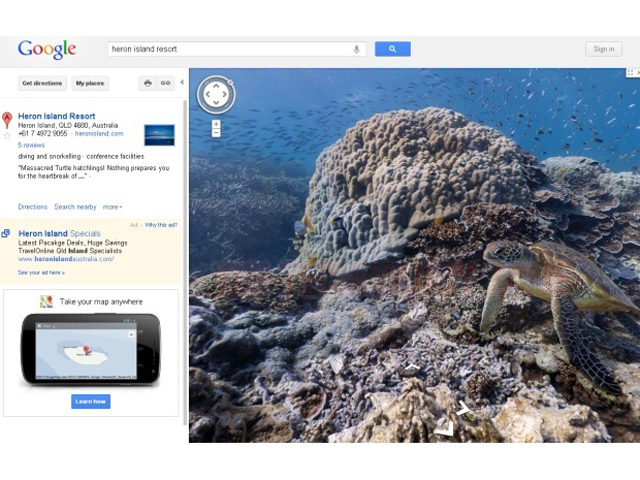 Google maps underwater world indosurflife gumiabroncs
