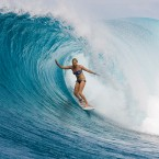 Stephanie Gilmore (AUS), 24, reigning five-time ASP Women's World Champion, welcomes the 2013 ASP Top 17 to the elite level of competition. Photo: Kenworthy