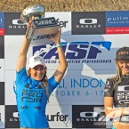 Nikki Van Dijk (AUS), the first ASP World Champion crowned in Indonesia. Pic ASP/Robertson.