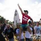 Joel Parkinson (AUS), 31, claimed the 2012 ASP World Title at the Billabong Pipe Masters in Memory of Andy Irons.