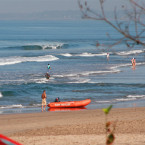 Lifeguard saves unfortunate tourist in Legian Beach