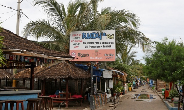 Rudy's Bar on the holiday island of Gili Trawangan. Picture: Steve Pennells/The West Australian