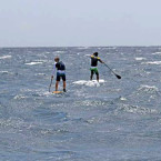 Crossing Bali-Lembongan channel on SUP