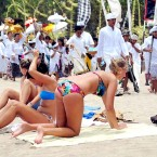 Some travel agents think Bali, where tourism-dependant locals conceal their annoyance at foreigners' behaviour, is partly to blame for Australians' ignorance of cultural sensitivities abroad. Photo: AFP.