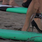 Video: Surfing in High Heels