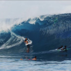 16-year-old surfer girl tackles big Teahupo'o