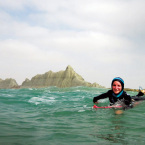 Easkey Briton Teaches Women to Surf in Hijab in Iran
