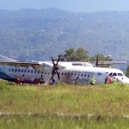 Indonesian Plane Skids Off Runway in Lombok