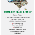 An Invitation for Beach Clean Up Movement