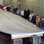 Huntington Beach Shapes 42 ft Surfboard for The Guinness World Records