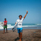 Rip Curl GromSearch SE Asian Finals Electrifying as Rio Waida and Cinta Hansel Take The Titles