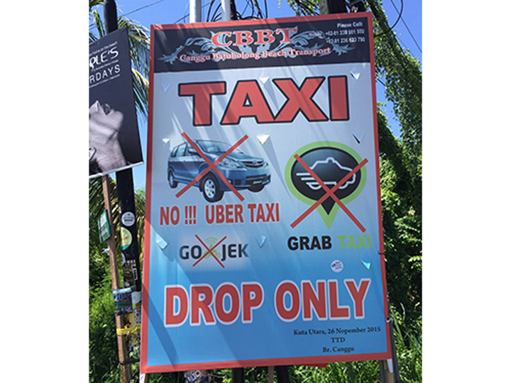 Canggu Transport Organization Ban Mobile App Taxi-Booking
