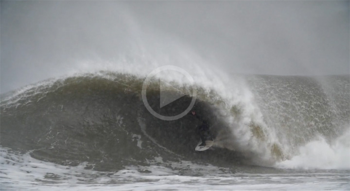 Video: Surfing Winter Storm Jonas