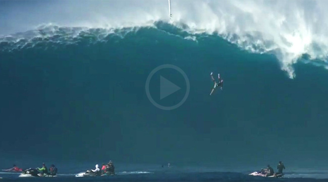 Video: Tom Dosland Fell Out From 40ft Epic Jaws
