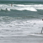 Bali Lifeguards Warn Tourists For Large Waves and Strong Winds