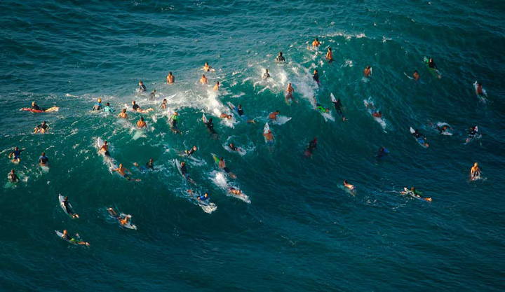 The Most Crowded Waves