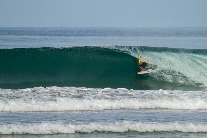Rip Curl Gromsearch Held In The Powerful Beach Break Barrels of Bengkulu