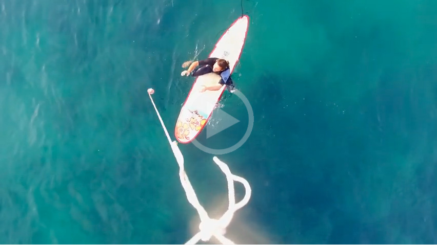 Video: Delivery Drone Will Fly Drink and Food to Surfers in The Lineup