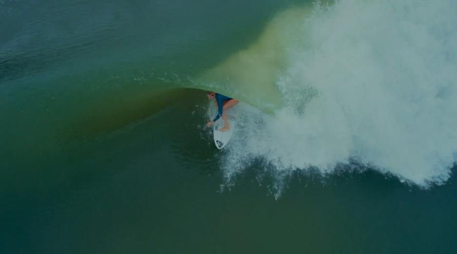 Video: Steph Gilmore's Dream Barrel From Above