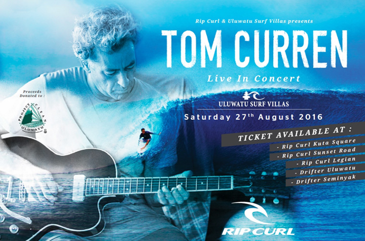 Tom Curren Performing Live In Bali This Saturday