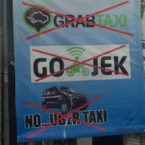 Expect Traffic Jams, Due to Threat of Online Transport Operators Mass Protests in Bali