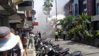 Electrical Box Explode in Kuta Square, Bali
