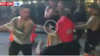 Video: Australian School Leaver Hit by Glass Bottle, When Fights Broke Out on Legian Street