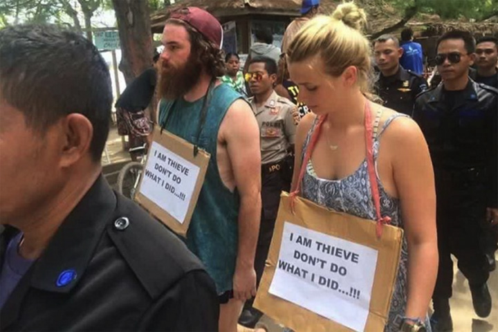 Australian Tourists Paraded in 'Walk of Shame' Over Theft in Lombok