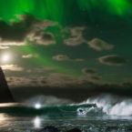 Video: Mick Fanning Surfing Beneath The Northern Lights