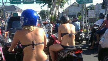 Traffic Operation Starts in Bali, Also Targets Shirtless Tourist