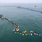 Huntington Beach Sets a World Record For World's Largest Paddle Out