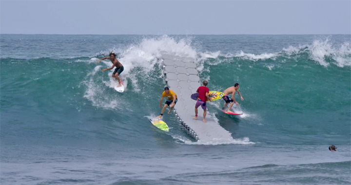 Video: A Floating Dock in The Middle of Bali Famous Surf Break