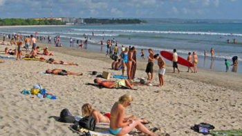 Foreign Tourist Lost Surfing at Kuta Beach, Bali