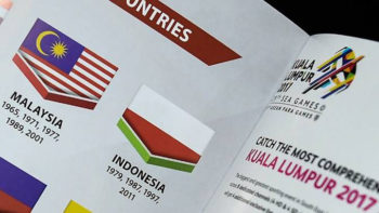 Indonesian Flag Upside Down in Official SEA Games Booklet