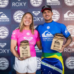 Carissa Moore and Gabriel Medina Wins Roxy and Quik Pro France