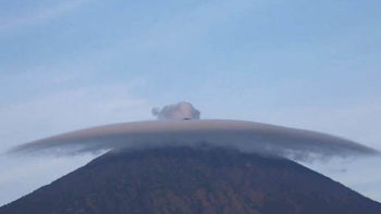 Eruption fears rise as ominous grey cloud surrounds Mount Agung
