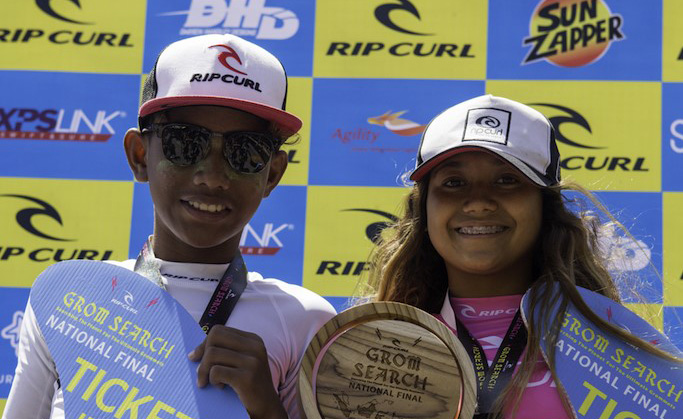 Kona Eru and Taina Izquierdo Are The 2017 Rip Curl Gromsearch National Champions