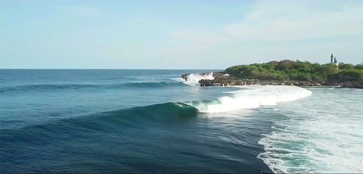 The Mushroom Rock Surf Break in Bali is Threatening by Marina